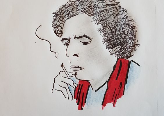 Jean-Edern Hallier vu par Hugues Poujade